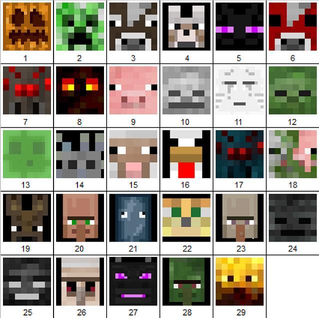 Minecraft-Mobs-textures